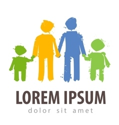 Family logo design template parents vector
