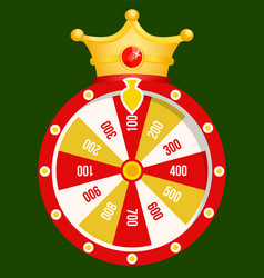 fortune wheel golden coins casino gambling game vector image