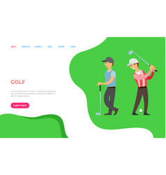 golf people playing english game on field web vector image