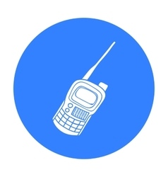 Handheld transceiver icon in outline style vector