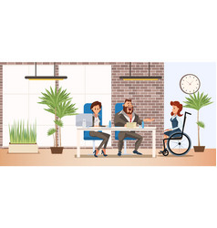 Hiring person with disabilities concept vector