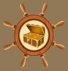 icon pirate chest vector image