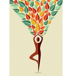 India yoga human tree vector