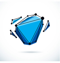 isometric abstract low poly shape communication vector image