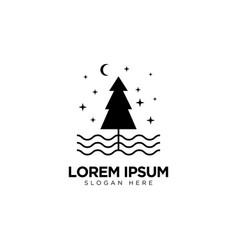Leaf forest logo design nature logo template vector