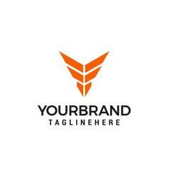 letter y emblem logo designs template vector image