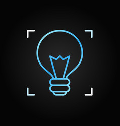 light bulb colored icon in thin line style vector image