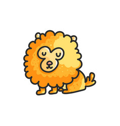 little cartoon pomeranian dog vector image
