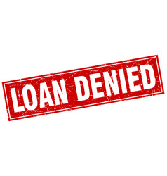 Loan denied square stamp vector