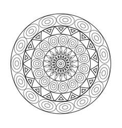 Mandalas for coloring book decorative black and vector