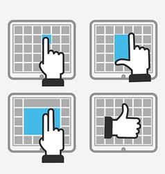 Modern tile interface vector image