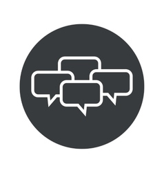 Monochrome round chat conference icon vector