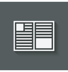 open book symbol vector image