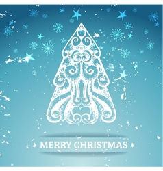 Ornamental stylized christmas background vector image
