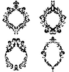 Ornate baroque frames set vector