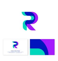 P r monogram public relations emblem transparent vector