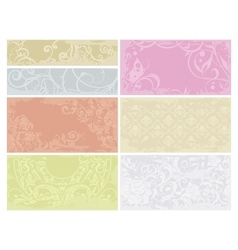 Patterned cards set vector image vector image