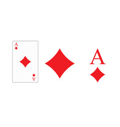 playing card ace diamonds for printing vector image