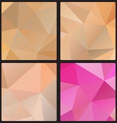 Polygon color set vector image