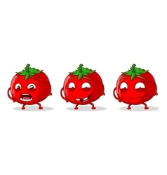 Red crazy tomatoes set vector image