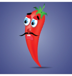 red pepper vector image