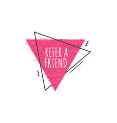 Refer a friend - modern geometric icon for new vector