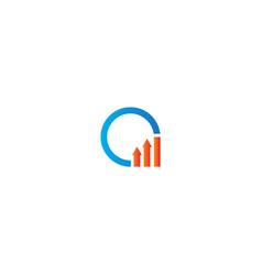 Round arrow business logo vector