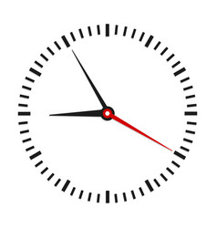 round office clock on white stock vector image