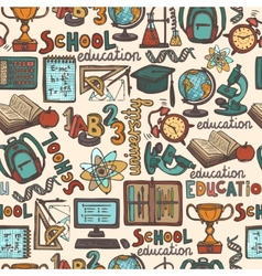 School education seamless pattern vector
