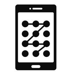 screen sign lock icon simple style vector image