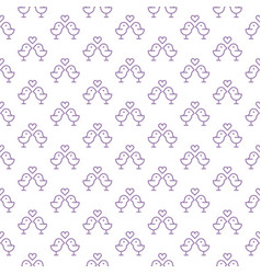 seamless pattern weddinglove themes couple vector image