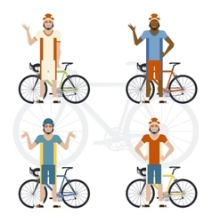 Set of Cyclists vector image