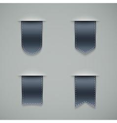 set of grey ribbons vector image