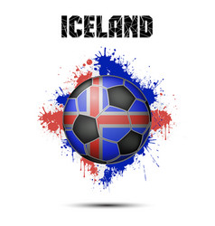 soccer ball in the color of iceland vector image