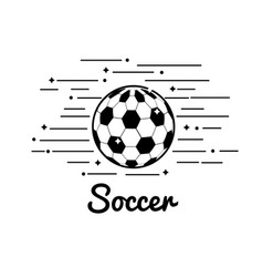 symbol soccer play icon vector image