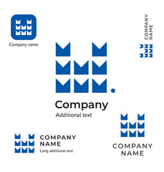 technological contstruction logo modern m letter vector image vector image