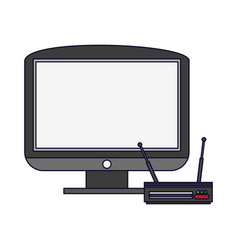 television and digital decoder vector image