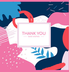 thank you poster - modern minimalistic vector image