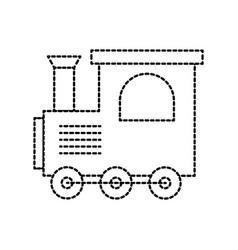 Train toy children locomotive miniature vector
