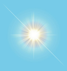transparent sun light line isolated on sky vector image