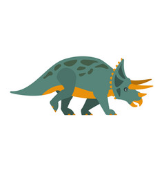 triceratops dinosaur of jurassic period vector image