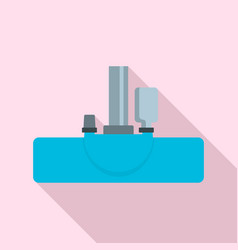 vacuum cleanning head icon flat style vector image