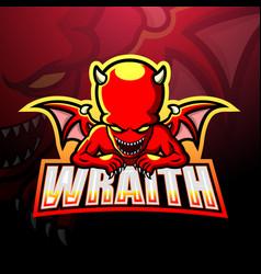 Wraith mascot esport logo design vector