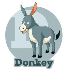 abc cartoon donkey vector image