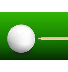 Billiard Cue Aiming on Ball vector image