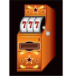 Casino machine vector image vector image
