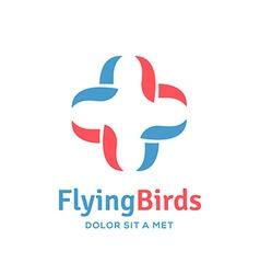 Cross plus bird medical logo icon design template vector image vector image