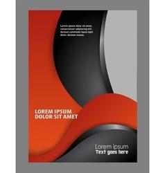 Flyer booklet template design catalog brochure fol vector image vector image