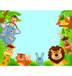 happy animals vector image