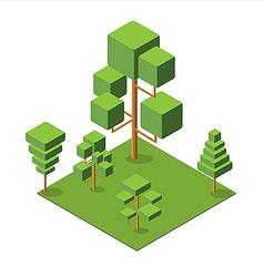 Isometric tree 380 vector image vector image